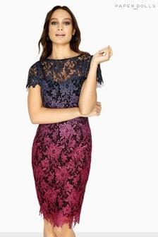 שמלת תחרה בעיצוב אומברה של Paper Dolls