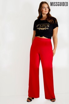 Missguided Curve Wide Leg Tailored Trousers