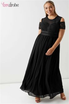Lovedrobe Curve Panelled Bodice Maxi With Cold Shoulder