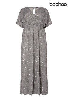 Boohoo Plus Sequin Maxi Dress
