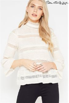 Miss Selfridge Premium Pintuck Blouse