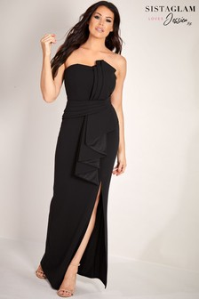 Sistaglam Loves Jessica Bandeau Maxi Dress