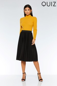 Quiz Pleated Midi Skirt
