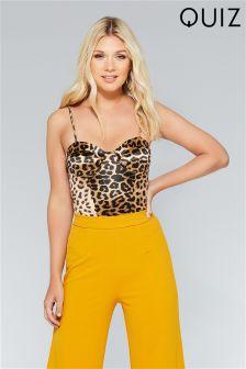 Quiz Leopard Print Bodysuit