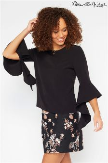Miss Selfridge Frill Sleeve Tee