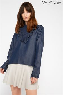 Miss Selfridge Ruffle Blouse