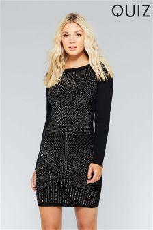 Quiz Light Knit Embellished Dress