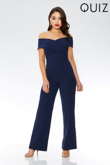 Quiz Cross Over Wide Leg Jumpsuit