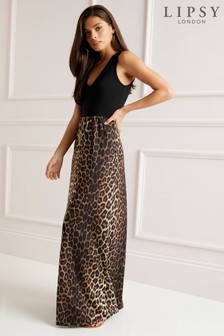 Lipsy Leopard 2 in 1 Maxi Dress