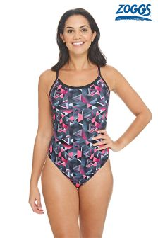 Zoggs Chaos Piped Spritback Control Swimsuit