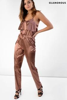 Glamorous Ruffle Front Jumpsuit