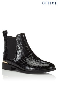 Office Croc Patent Ankle Boots