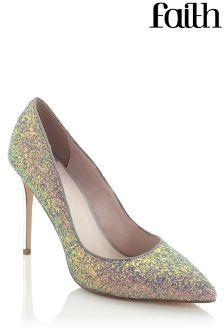 Faith Glitter Court Shoes