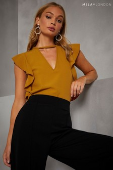 Mela London Ruffle Sleeve Top
