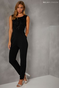 Mela London Textured Top Jumpsuit