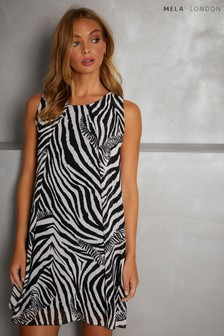 Mela London Zebra Print Tunic Dress