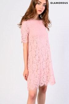 Glamorous Lace A line Dress