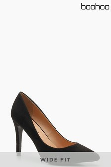 Boohoo Wide Fit Pointed Court Shoe