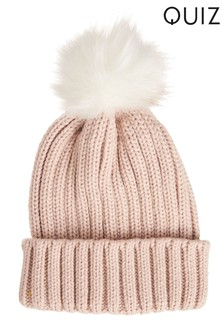 Quiz Knitted Pom-Pom Hat