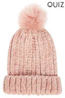 Quiz Knit Pom-Pom Hat