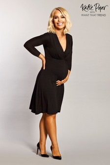 שמלת הריון והנקה עם שרוול ארוך של Want That Trend