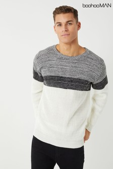 Boohoo Man Pullover in Blockfarben