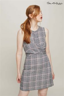 Miss Selfridge Check Twist Front Mini Dress