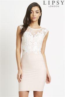 Lipsy Lace Appliqué Bodycon Dress