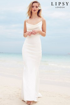 Lipsy Bridal Cowl Neck Satin Maxi Dress