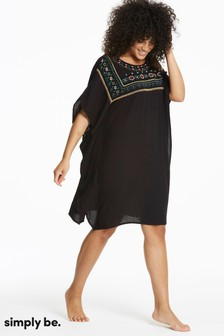 Simply Be Embroidered Kaftan