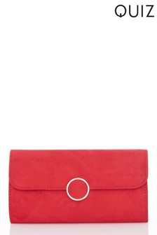 Quiz Circle Flip Clutch Bag