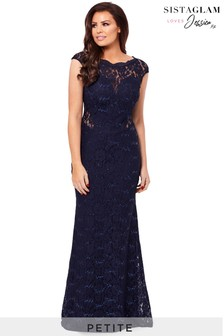 Sistaglam loves Jessica Petite Sequin Lace Maxi Dress