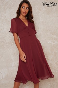 Chi Chi London Emmanuelle Fit And Flare Dress