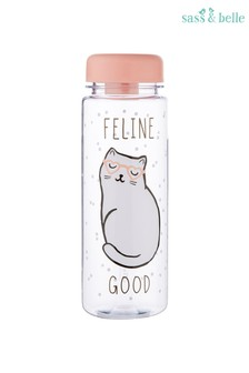 Sass & Belle Cat Queen Feline Water Bottle
