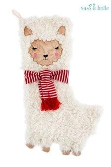 Sass & Belle Llama Christmas Stocking