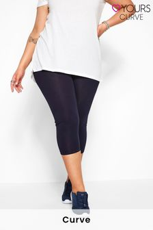 Yours Curve Cotton Essential Cropped Leggings