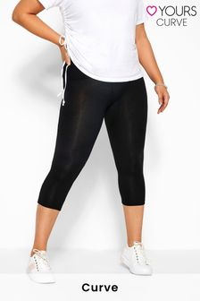 Yours Curve Tummy Control Soft Touch Cropped Leggings