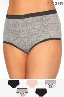 Yours Curve 5 Pack Animal Print Full Briefs