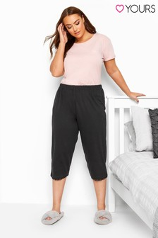 Yours Curve Crop Pyjama Bottoms