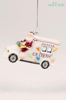 Sass & Belle Ice Cream Santa Bauble