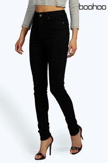 Boohoo Super High Waisted Skinny-Jeans