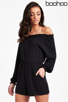 Boohoo Off The Shoulder Playsuit