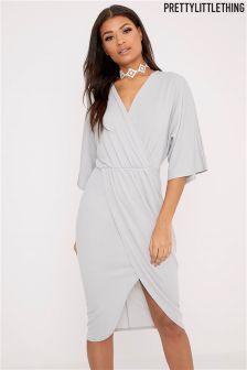 PrettyLittleThing Cape Midi Dress