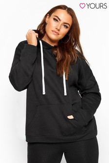 Yours Curve Drawstring Tie Hoodie