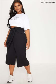 PrettyLittleThing Curve Paper Bag Culottes