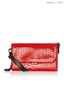 Kendall & Kylie Bay Lacquered Snake Belt Bag