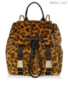 Kendall Kylie Poppy Mini-Rucksack in Tierfelloptik mit Leopardenmuster
