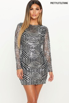 PrettyLittleThing Sequin Bodycon Mini Dress