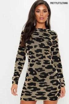 PrettyLittleThing Leopard Print Bodycon Mini Dress