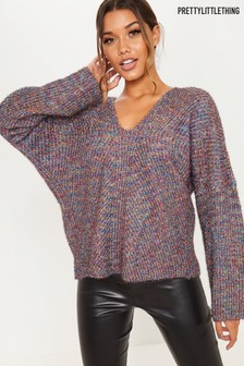 PrettyLittleThing Cross Back Glitter Jumper